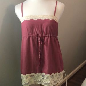 Banana Republic lace trimmed camisole